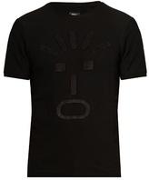 Fendi Faces-appliqué Crew-neck T-shirt