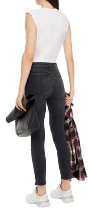 Rag & Bone Cropped Faded Mid-rise Skinny Jeans