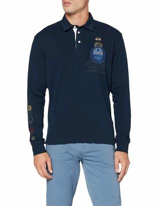La Martina Men's Man Polo L/S Jersey Interlock Shirt