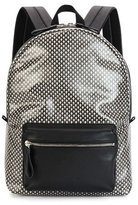 Alexander McQueen Mini-Skull Printed Backpack, Black