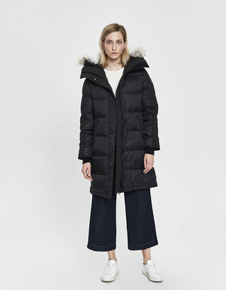 Canada Goose Women's Rowley Parka Jacket in Black, Size Large