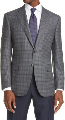 Canali Soft Check Wool Sport Coat