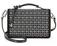 Alaia Women's Small Franca Studded Leather Shoulder Bag