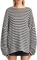 AllSaints Casso Striped Crewneck Sweater