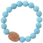 Barse Turquoise Magnasite & Druzy Power Bead Bracelet