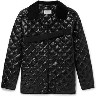Maison Margiela Oversized Corduroy-Trimmed Quilted Nylon Jacket
