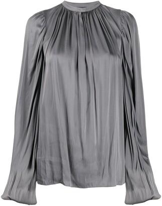 Rochas satin draped blouse