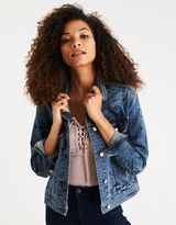 American Eagle Outfitters AE Ltd. Edition 40th Anniv. Doodled Denim Jacket