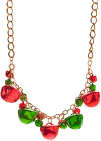 Carole Red & Green Holiday Bell Statement Necklace
