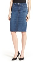 Good American Women's High Rise Denim Pencil Skirt