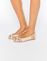 Asos LINDY Peep Toe Ballet Flats