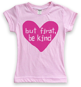 Urban Smalls Light Pink 'But First, Be Kind' Fitted Tee - Toddler & Girls