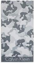 Calvin Klein Camouflage Beach Towel - Grey