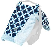 Itzy Ritzy Infant Car Seat Canopy & Tummy Time Mat - Social Circle Blue