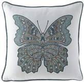 "Elaine Smith Mariposa Lagoon Pillow, 20""Sq."