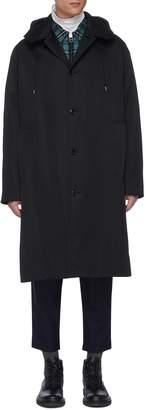 Oamc Detachable quilt hood car coat