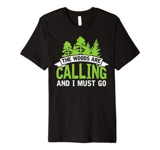 Camper Tees The Woods are Calling T-Shirt Camping Tee for Campers