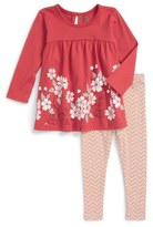 Tea Collection 'Nara' Graphic Print Tunic & Leggings Set (Baby Girls)