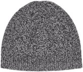 Reiss Reiss Claude - Mottled Beanie Hat In Grey