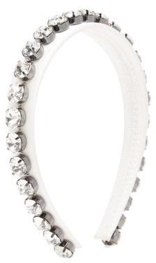 Christopher Kane Crystal-embellished Headband - White