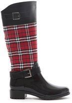 Love Soho Cape Robbin Women's Zipper Buckled Jelly Knee High Rain Boots