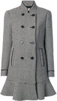 RED Valentino houndstooth double breasted coat - women - Polyester/Acetate/Wool - 38