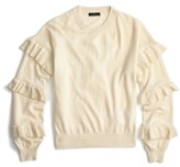 J.Crew Women's Ruffle Sleeve Sweater