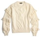 J.Crew Women's Ruffle Sleeve Sweater