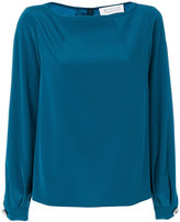 Gianluca Capannolo gathered cuffs longsleeved blouse - women - Polyester/Triacetate - 42