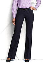 Lands' End Women's Petite Pre-hemmed Fit 2 Wear to Work Trousers-Venetian Blue