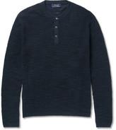 Polo Ralph Lauren Waffle-Knit Cotton and Linen-Blend Henley Sweater