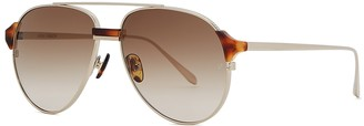 Linda Farrow Luxe Brooks Aviator-style Sunglasses