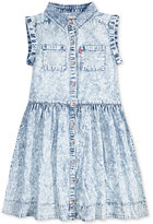 Levi's Rolled Short Sleeve Eyelet Woven Dress, Big Girls (7-16)