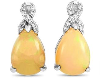 Non Branded 14K 2.70 Ct. Tw. Diamond & Opal Earrings