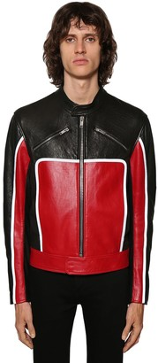 Givenchy Leather Biker Jacket W/reflective Detail