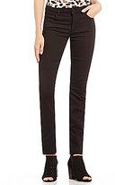 Jones New York Lexington Onyx Black Stretch Denim Straight-Leg Jeans