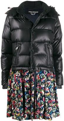 Junya Watanabe Floral Print Peplum Puffer Jacket