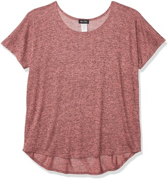 Star Vixen Women's Petite Dolman Sleeve Hi-Low Hem Easy-Wear Sweater Knit Top