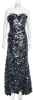 Naeem Khan Embellished Strapless Gown