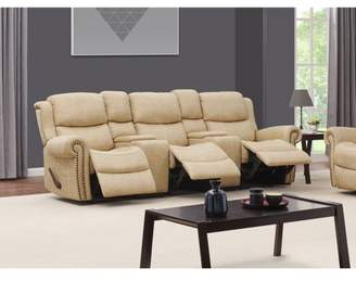 Prolounger ProLounger Wall Hugger Rolled Arm Reclining Sofa in Distressed Latte Tan Faux Leather