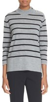 Kate Spade Women's Stripe Wool Swing Sweater