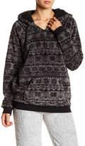 PJ Salvage Geometric Snowflake Cozy Hoodie Sweatshirt