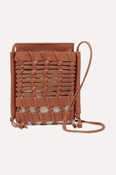 e173890fc60 HEREU - Net Sustain Trena Mini Woven Leather And Organic Cotton-canvas  Shoulder Bag - Tan