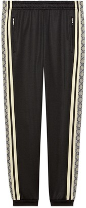 Gucci Oversize technical jersey track bottoms