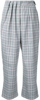 Gwen Salakaia - checked cropped trousers - women - Cotton/Polyester - 0