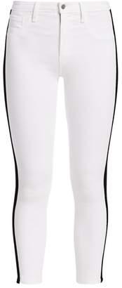 L'Agence Margot Velvet Tux High-Rise Skinny Jeans
