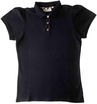 Aquascutum London Blue Cotton Top for Women