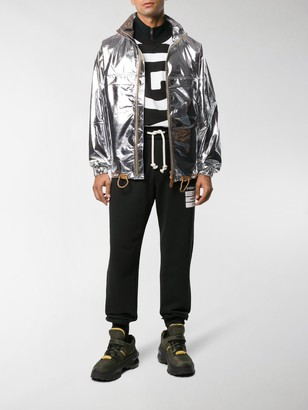 Burberry Metallic Sheen Zipped Jacket