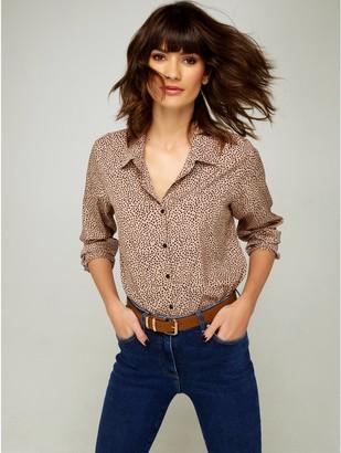 M&Co Spot print shirt