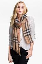 Burberry Women's Giant Check Print Wool & Silk Scarf